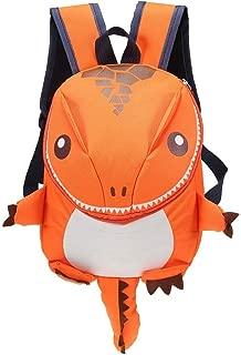 GMKJ Children's Cartoon Backpack Cartoon Dinosaur Backpack Children Kids Kindergarten School Bag (Color : Orange)