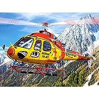 5D DIYダイヤモンド絵画キットフルドリルクリスタル刺繡絵画家の壁の装飾のためのクロスステッチアート工芸品、フレームなし-黄色のヘリコプター-50x50cm