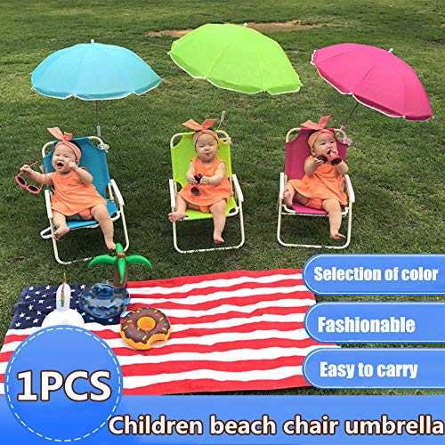 YUYON Kinder-Strandkorb, Zusammenklappbarer Multifunktionaler Sonnenschirm, Geeignet Für Camping Im Freien Am Strand (48 * 38 * 28CM),Red