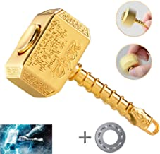 MAYBO SPORTS Wiitin Bearing Replaceable Thor's Battle Hammer Fidget Spinner with Spare Bearing and Tools, The Mighty Mjolnir Toy Made by Metal - Shiny Golden