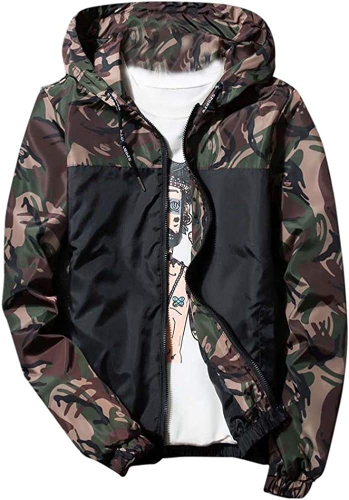FIRERO Men's High quality new Camouflage Print Jacket Shell Outdoor Hooded P Soft Ranking TOP14