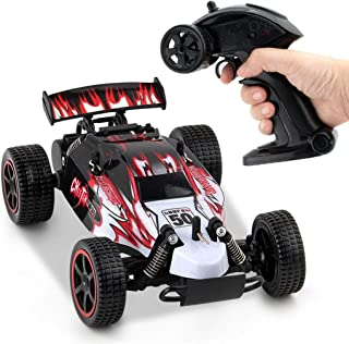 JJQ-TOYS RC Cars Rremote Control Racing Car 2.4Ghz High Speed Rock Off-Road Vehicle 1:18 4WD Radio Remote Control Racing Toy Cars Electric Fast Race Buggy Hobby Car Red