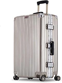 YCYHMYF Estuches para Trolley para Mujeres y Hombres   Cerraduras TSA   Estuche rígido Maletas rígidas Estuches de viaje   Mango telescópico de aluminio (oro de 24 pulgadas)