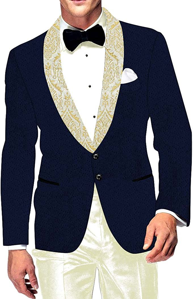 INMONARCH Mens Slim fit Casual Dark Sport Limited time for free shipping Navy Blazer Jac Velvet Max 48% OFF