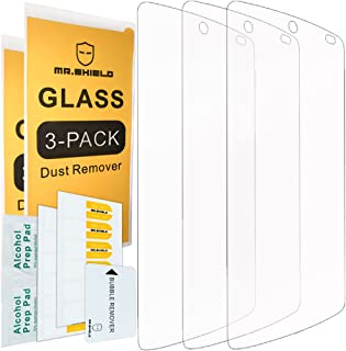 [3-PACK]- Mr.Shield For Google(lg) Nexus 5 [Tempered Glass] Screen Protector [0.3mm Ultra Thin 9H Hardness 2.5D Round Edge] with Lifetime Replacement