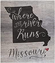 "Kindred Hearts 12""x13.5"" Missouri State Slogan Pallet Board Wall Art"