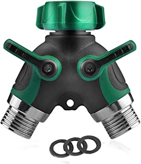 SIPIK Hose Splitter Hose Splitter for Garden Hose Connector 2 - Way Hose Splitter Connector