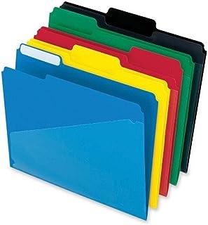 مجلدات ملف بولي ذات جيب ساخن من Pendaflex ، 1/3 قطع ، عروة علوية ، ألوان متنوعة ، 25 لكل صندوق (515)