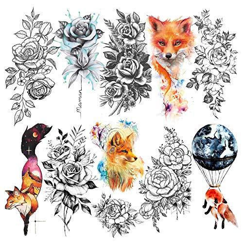 aquarell tattoo rose