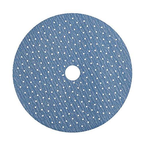 Norton 3X 5 & 8 Hole Universal Vacuum Abrasive Fiber Disc, Fiber Backing, Hook & Loop, Aluminum Oxide, 5