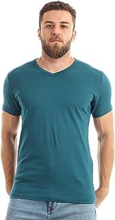 Kady Men V-neck short sleeves T-shirt-genzary-m