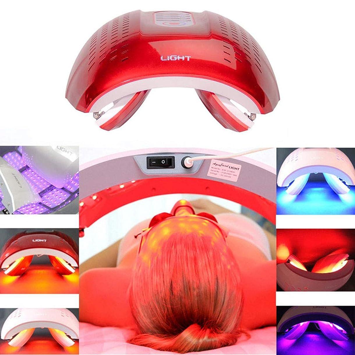 突然救急車に話すLED光子の顔の若返りの美の器械、4色PDTの分光計、肌の引き締め美白の強化,Red