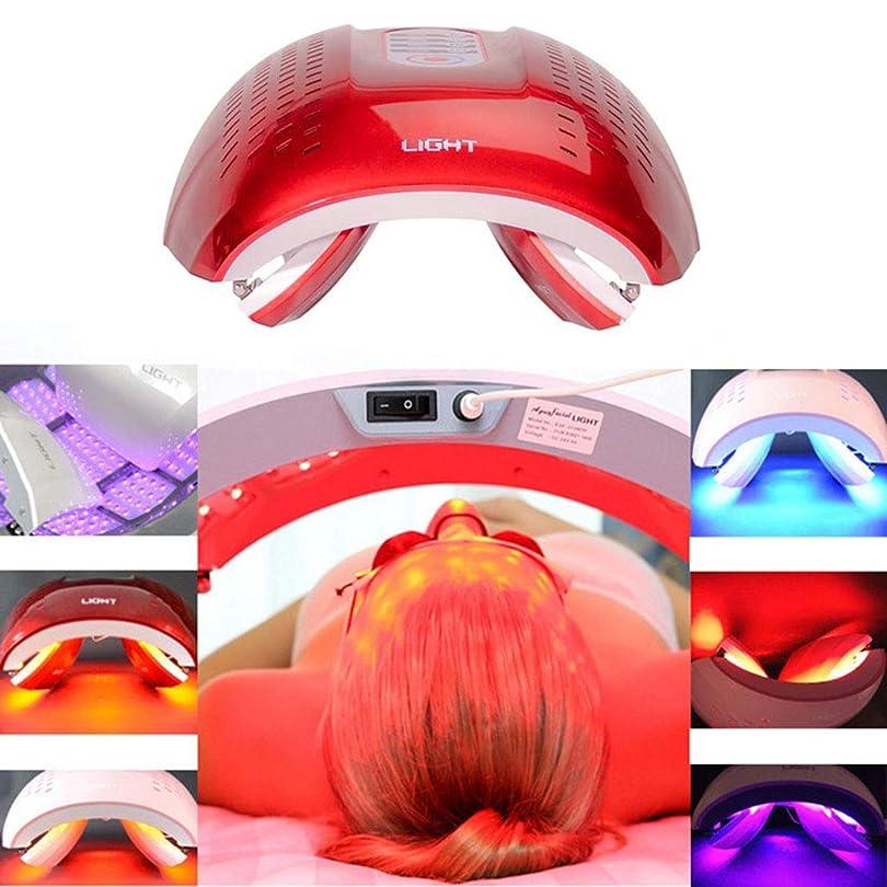 フレキシブルそれに応じて牧草地LED光子の顔の若返りの美の器械、4色PDTの分光計、肌の引き締め美白の強化,Red