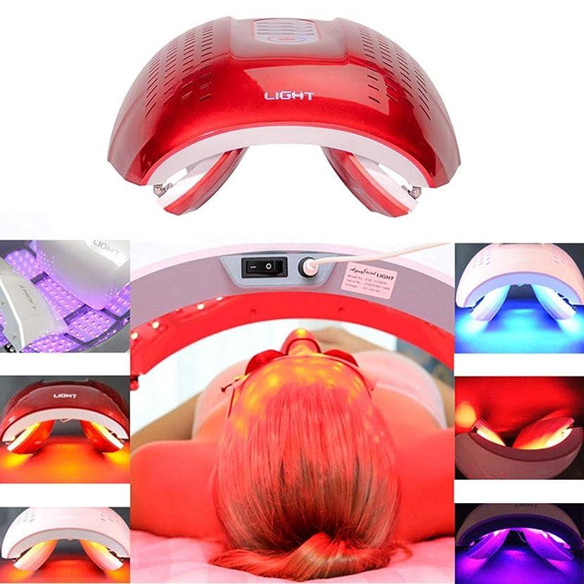 より頭蓋骨取り組むLED光子の顔の若返りの美の器械、4色PDTの分光計、肌の引き締め美白の強化,Red