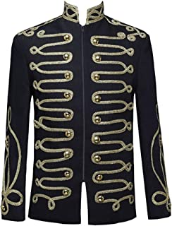 Modaworld Ricamare Il Cappotto Giacca da Uomo Elegante Uomo Cappotto Steampunk Vintage Giacca Gotico Manica Lunga Vittoria...