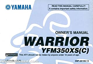 LIT-11626-17-06 2004 Yamaha YFM350XS Warrior ATV Owners Manual