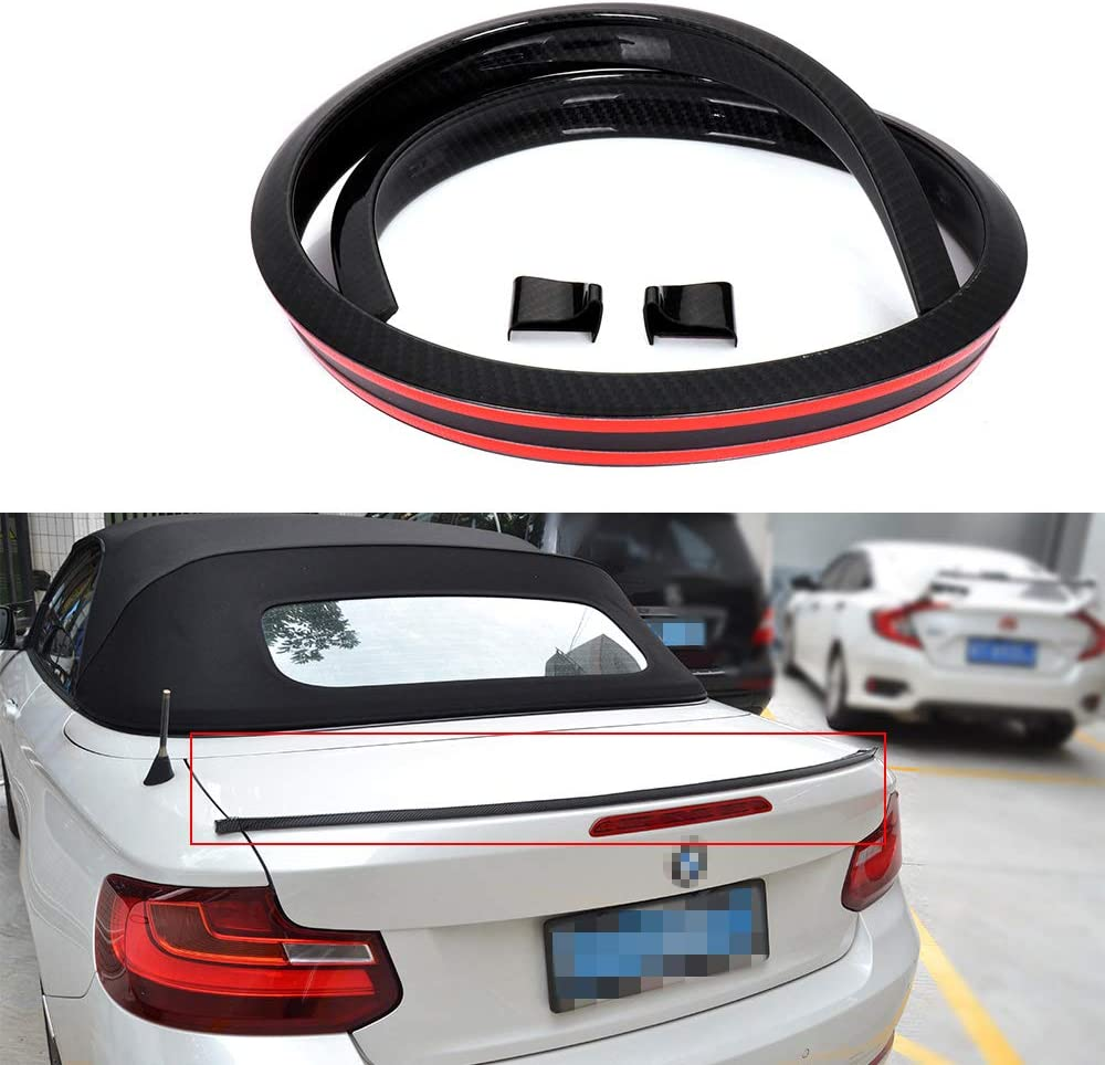 SCITOO Weekly update Black Bombing free shipping Carbon Fibre Universal Lip Rear Trunk Wing Spoiler