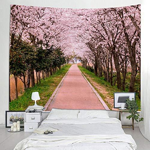Tapiz tapiz colgante de pared árbol verde tapiz paisaje para decoración del hogar decoración de pared de gran tamaño 150x100cm