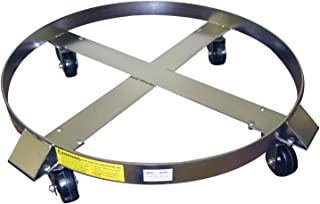 Wesco Industrial Products 240198 Drum Dolly, 85 gal, Stainless Steel Frame, Hard Rubber Casters with Zinc Plated Caster Rig, 900-lb.Capacity