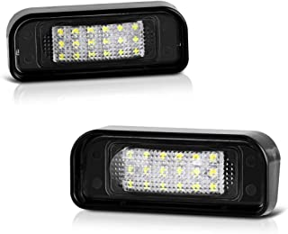 VIPMOTOZ Full LED License Plate Light Lamp Assembly Replacement For 2000-2006 Mercedes-Benz W220 S-Class AMG - 6000K Diamond White, 2-Pieces