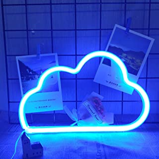 Blue Cloud Neon Light LED Blue Cloud Neon Signs Blue Clouds Lighting LED Neon Signs for Wall Decor Battery/USB Operated Cl...
