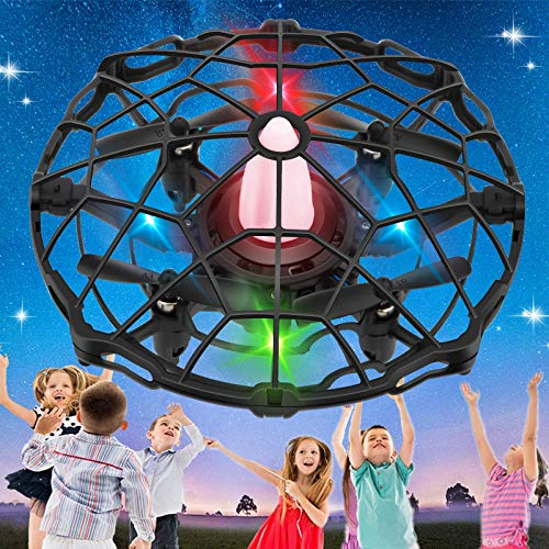 Stone Kid Toys Mini RC Drone RC Helicopter for Kids 003SHWD Hand Operated Drones for Kids, Mini Drone UFO Kids Drone with Led Lights,