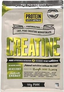 Protein Supplies Australia Pure Creatine Monohydrate Powder 500 g, Pure, 500 g