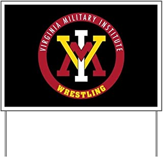 CafePress VMI Virginia Military Institute Cadets Wrestling Yard Sign, Vinyl Lawn Sign, Political Election Sign