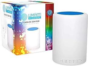 Caixa de Som Abajur Luminária Soundshine Bluetooth Multi-color