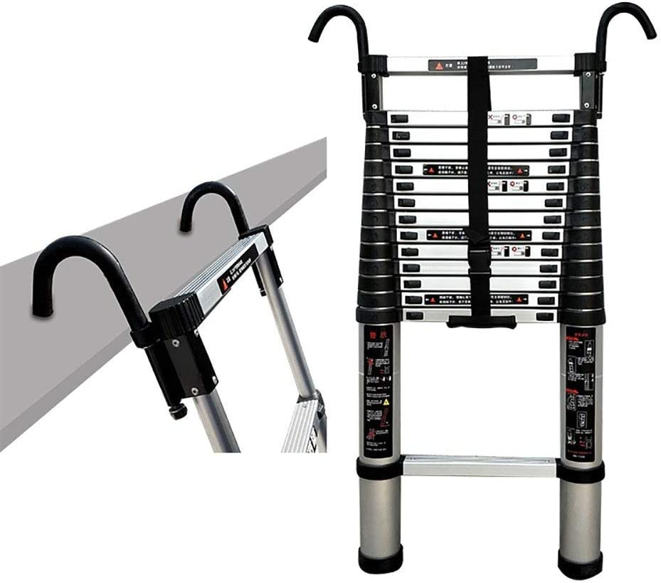 WGGGF Outdoor Construction Max 69% OFF Aluminum fxie Telescoping Ladder Columbus Mall with