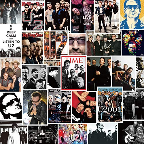 BLOUR 30 U2 Band Stickers Star Live Version Of The Notebook Suitcase Waterproof Decorative Graffiti Stickers