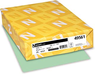Wausau Exact Index Cardstock, 110 lb, 8.5 x 11 Inches, Pastel Green, 250 Sheets (49561)