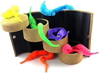 Codall 12pcs Magic Worm Toys Wiggly Twisty Fuzzy Carnival Party Favors(Random Color)