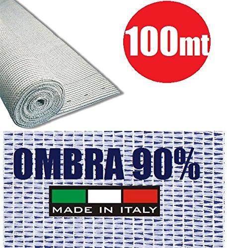 ITALFROM Rotolo 100mt Telone Ombreggiante Frangivista Bianco H 200 per Rete Metallica [cod.4304]