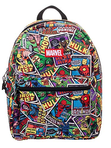 Marvel Comics Print All-Over 16' Backpack