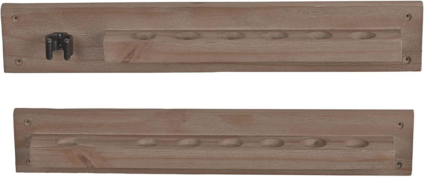 6-Cue Modern Rustic Antique Solid Wood Cue Mount Arlington Mall Pool Stick Max 64% OFF Wall