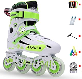 インラインスケート スケート大人のインラインスケート、高弾性PUウェアラブルミュートホイール初心者ローラースケート、プロのスピードスケート靴、35から44ヤードオプション (Color : B, Size : EU 36/US 4.5/UK 3.5/JP 23cm)