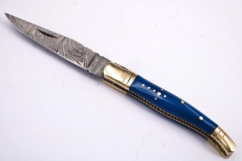 DKC Knives 102 6 High quality Oklahoma City Mall 18 DKC-62-BL Laguiole Damascus Prince St Blue