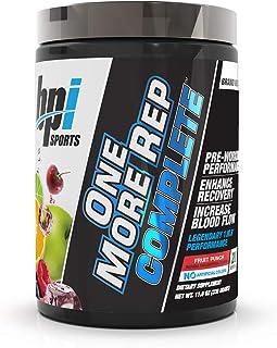 BPI Sports One More Rep Complete – Citrulline – Beta-Alanine – Caffeine – Nitrosigine – S7 – Endurance, Strength, Pump, Muscle Growth, Focus, Libido – for Men & Women – Fruit Punch -20 Serv –11.6 oz