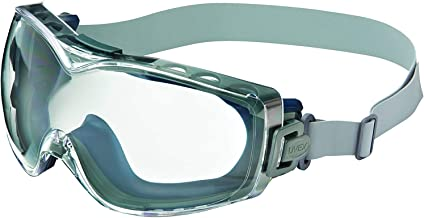 Uvex Stealth OTG Safety Goggles with Clear Lens, Dura-Streme Anti-Fog/Anti-Scratch Coating & Neoprene Headband (S3970D)