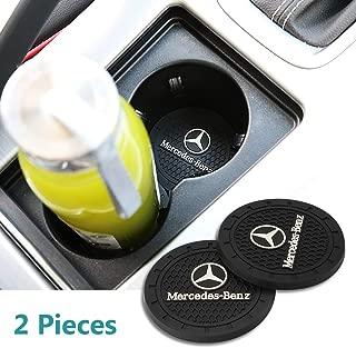 Yuanxi Electronics 2 Pcs 2.75 inch Car Interior Accessories Anti Slip Cup Mat for Mercedes-Benz S Serie,E Serie,C Serie,W Series,A Series,etc All Models (Mercedes-Benz)