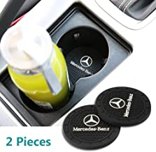 Yuanxi Electronics 2 Pcs 2.75 inch Car Interior Accessories Anti Slip Cup Mat for Mercedes-Benz S Serie,E Serie,C Serie,W Series,A Series,etc All Models (Mercedes-Benz)