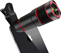 Cell Phone Lens, 14X Zoom Telephoto Lens, HD Phone Camera Lens for iPhone, Samsung, Android Smartphone, Monocular Telescope (Black)