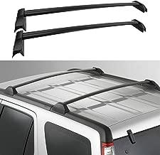 AUXMART 2 Pcs Roof Rack Cross Bars Crossbars Compatible for Honda CR-V 2002 2003 2004 2005 2006 (Black)
