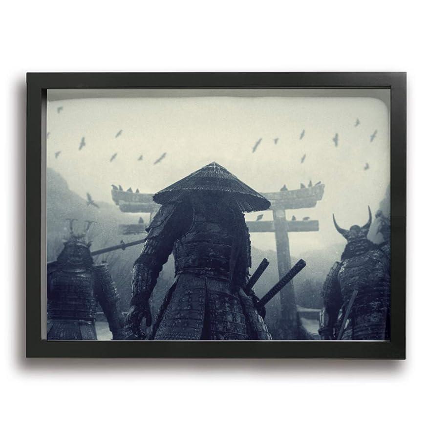 仕える残高リビングルームKana-I 侍 室内装飾 額入り絵画 壁に掛かる お祝いギフト 40×30cm