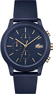 Lacoste Mens Quartz Watch, Chronograph Display and Silicone Strap 2011013