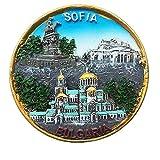 Imán para nevera 3D de Sofía Bulgaria, regalo de recuerdo de viaje, decoración para el hogar y la...