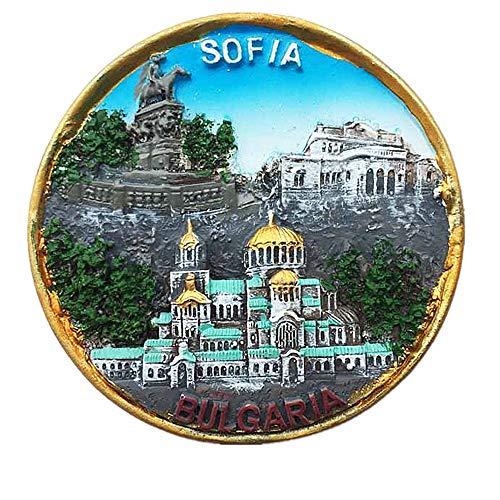 3D-Kühlschrankmagnet, Sofia und Bulgarien, Souvenir, Geschenk für Zuhause und Küche, Magnet-Aufkleber, Sofia/bulgarische Kühlschrank-Magnet-Kollektion.