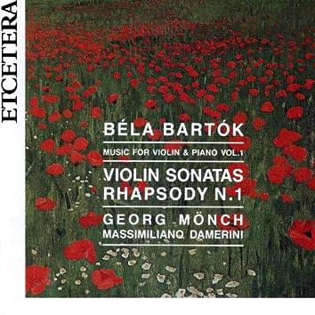 Bartok, Music for violin and piano Vol. 1, Sonatas and Rhapsody