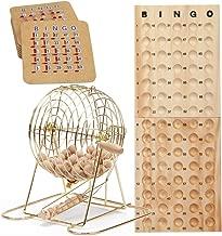 GSE Games & Sports Expert Deluxe Bingo Game Set with Masterboard, Bingo Balls, Bingo Cards (Brass/Black)